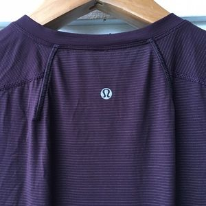 Lululemon Burgundy Workout Tee